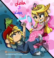 The Loud House: Lana and Lola Loud by DarkMirrorEmo23