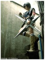 Yuffie:stairs by kiksology