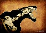 Smilodon Fatalis by hellenicwarrior