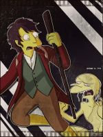 Hobbit in simpson by Matsuri1128