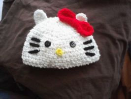 Crochet Hello Kitty Hat by LilliM00