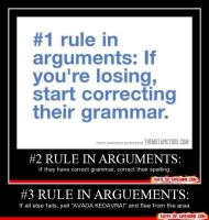 Rules of arguments by Pokefan117