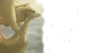 Reshiram half battle by All0412