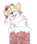 Fat Corgi Stuck in Chimney by b-dangerous