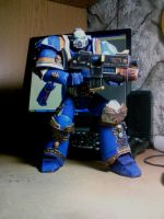 Spacemarine papercraft by Kukushkind