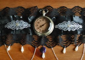 Steampunk inspired choker by brain-err0r