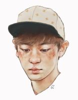 freckled chanyeol by genicecream