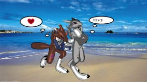 Dargo and zoey tail hug. by Roarick