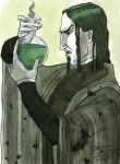 Snape with a Flask by purplerebecca