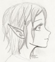 Dragon Age - Nimue sketch by shainareth