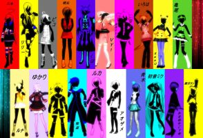 20 Vocaloid voices sing Rolling Girl by ChestNutScoop
