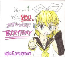 Happy Birthday - Kagamine Rin by sophia32