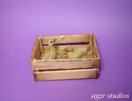 Handmade Miniature Ducklings by AGZR-STUDIOS