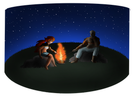 Campfire by Crescentfeathermoon