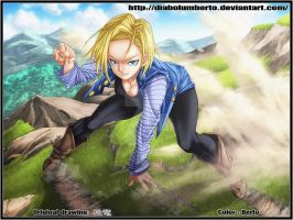 Dragon Ball - Android 18 - by diabolumberto