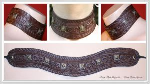 Thorbjorn - leather choker by adalheidis