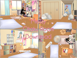 Messy Otaku room download by kaahgome