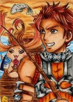 ACEO It's fishing time! by Dat-Taiga