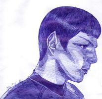 Zachary Quinto as Spock by NoAngelHonestly