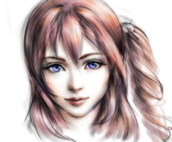 FFXIII-2 serah quick sketch :) by Narual