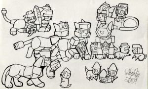 Transformer Kitties 2 by wachey