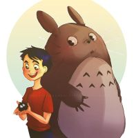David and Totoro by Do0dlebugdebz