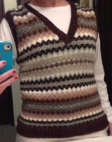 Completed Fair Isle Sweater Vest by PurpleSolution