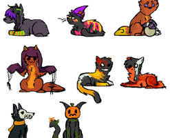 Halloween Adopts by Robinthealleycat