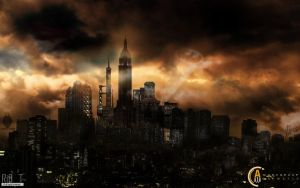 Gotham City by ribot02