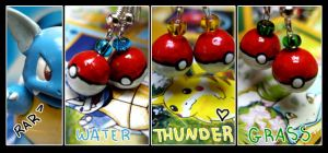 :: Pokeball Earrings :: by Blue6