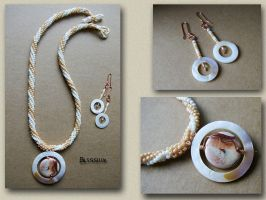 Earth and Wind Necklace Set by sweetdream20