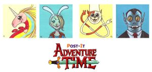 POST IT ADVENTURE TIME PART THREE by QuinteroART