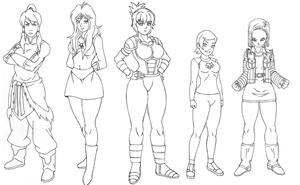 Character Womans Sketch block Two by omar-sin