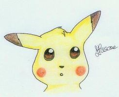 Pikachu Sketch by HollysHobbies