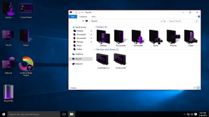 Purple IconPack for Win10 by hamed1987s