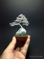 Sterling Silver ROR wire bonsai tree by Ken To by KenToArt