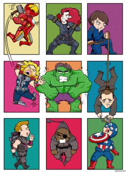 Avengers Blocks by Saturn-Kitty