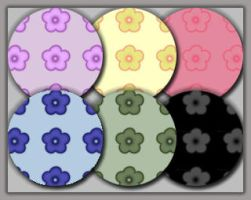 6 Flower -patterns by Shaluna
