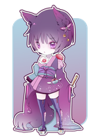 Adopt: Purple Neko [CLOSED] by Kialun