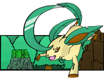 Leafeon used Leaf Blade! by Monnick