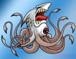 Sharktopus by JSComix
