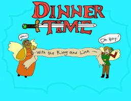 DINNER TIME WITH THE KING AND LINK by AkaruiNinja