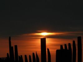Planks at sunset by PMeMe