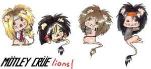 Motley Crue Lions- Colored by Gainstrive