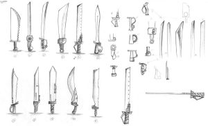 Sword Weapon Drafts by NoveliaProductions