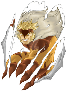 Sabretooth COLORED 2012 by LucasAckerman