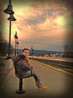waiting for trains by wroquephotography