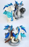 RPG Cake Topper Couple by HowManyDragons