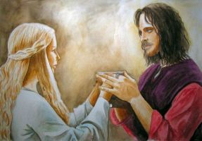 Aragorn and Eowyn by LujayneM