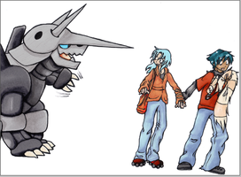 coloured AGGRON. by Mazilw0lf